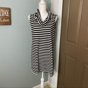 Striped Cowl Neckline Tunic by Express